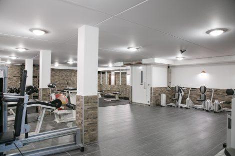 Træningsrum med adgang fra elevator på Feriecenter Slettestrand.