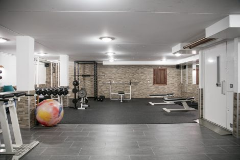 Træningsrum på Feriecenter Slettestrand
