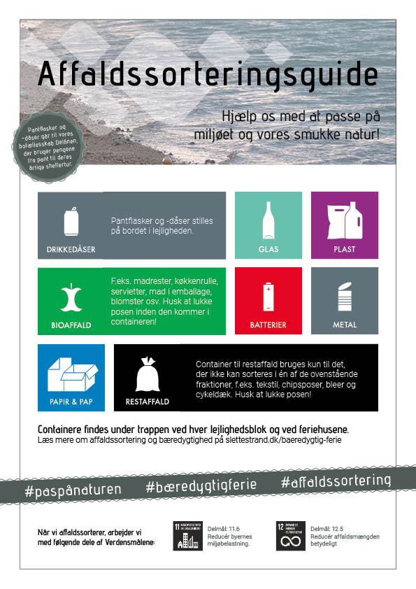 Affaldssorteringsguide | Feriecenter Slettestrand