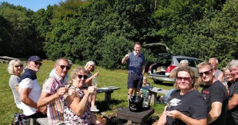 Guidet vandretur i Fosdal med vinsmagning   Foto: David Andreasen